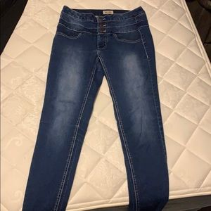 High waisted jeggings.